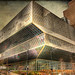 The fabulous architecture of the  modern Seattle Central  library .. HDR