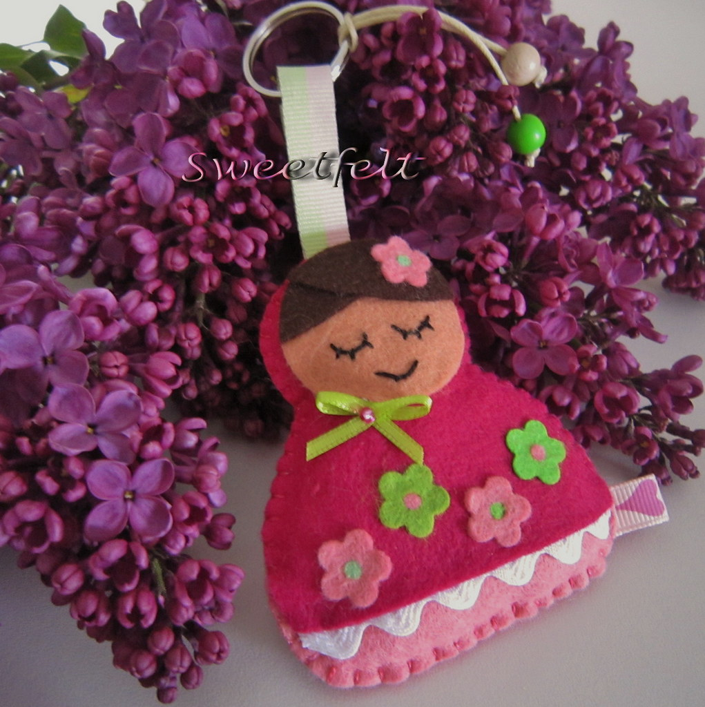 Adesivo De Parede Infantil Nuvem ~ A menina e o lilás  La fille et le lilas