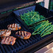 grilled pork chops, aparagus, and green beans