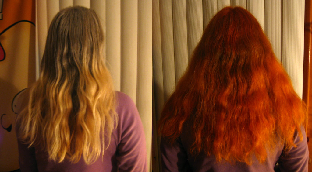 20110409 Carolyn S New Hair 1 Before Diptych After