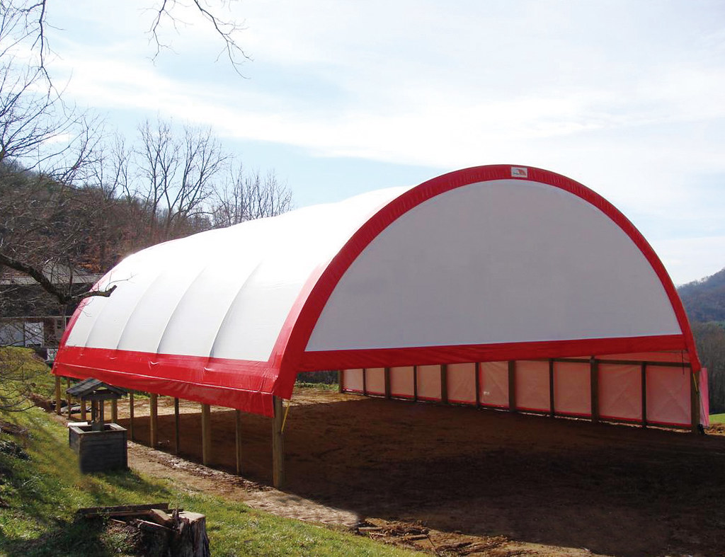 Indoor Riding Arena by ClearSpan | 65'W round style riding ...