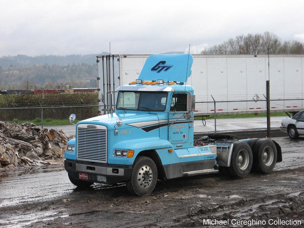 Set Forward Axle Fld 112 : Gordon trucking freightliner fld with set forward front ax