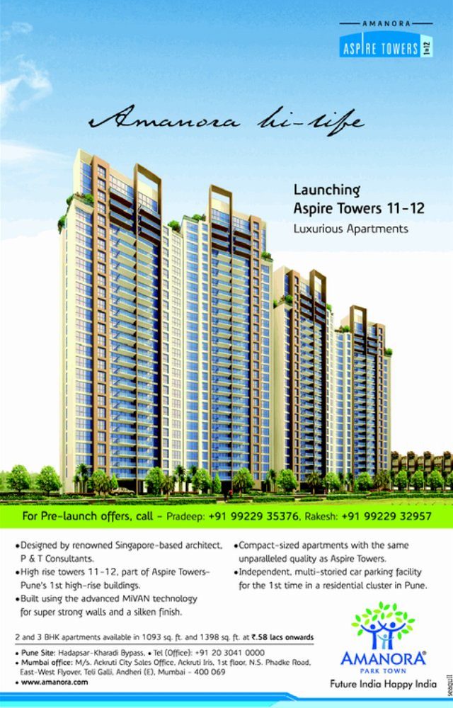 Amanora Aspire Towers 11 12 Launched 2 Ravi