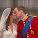 Prince William and Catherine Middleton - First Kiss as married couple