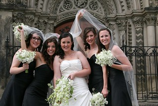 Bridesmaids under Heather's veil