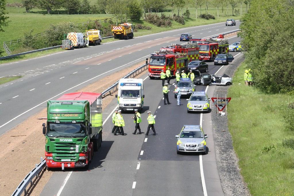 A9 Crash Dunblane 4 Vehicle Crash On A9 Southbound At