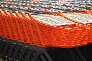 Plastic self service carts nested | by Polycart
