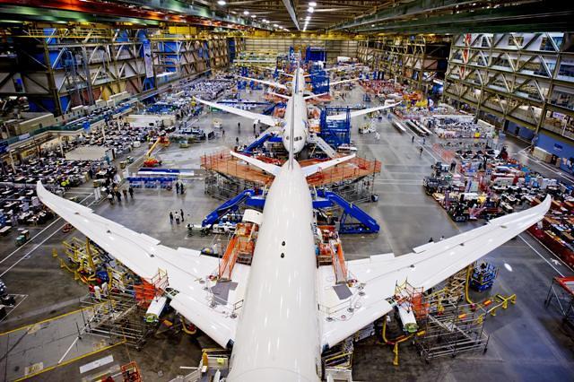 Boeing 787 Dreamliner Production Line The 787 Program