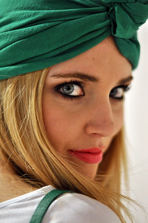 Turban, in Barcelona for Mango photoshoot | by Chiara Ferragni