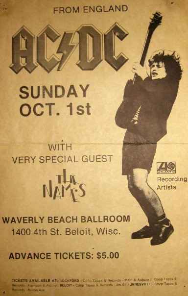 AC/DC Beloit Wisconsin | Poster from Waverly Beach in