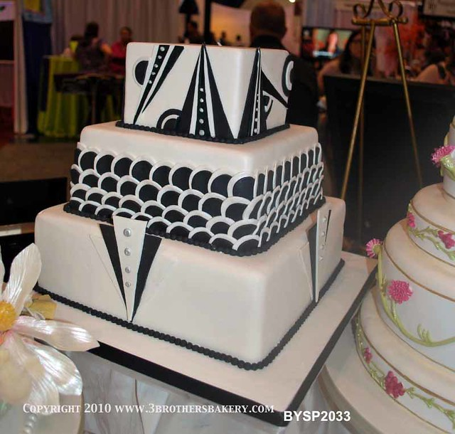 Art Deco Sheet Cake : BYSP2033 Art Deco Cake Flickr - Photo Sharing!