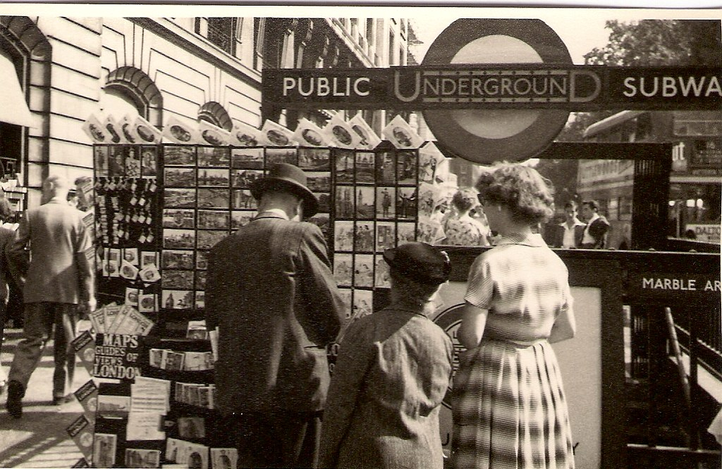 Outside Marble Arch Tube Station London C 2 August 1955
