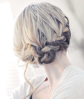 pretty braided romantic updo | by ...love Maegan