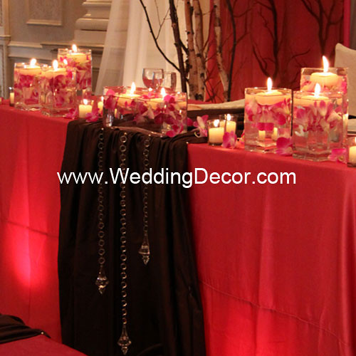 Wedding Reception Head Table Ideas: Head Table Decorations - Fuchsia & Brown