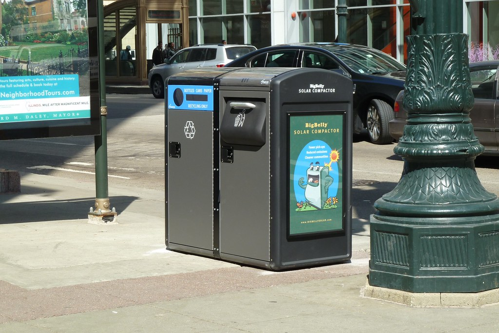 Bigbelly Solar Trash Compactor Amp Recycling Bin At State Ra