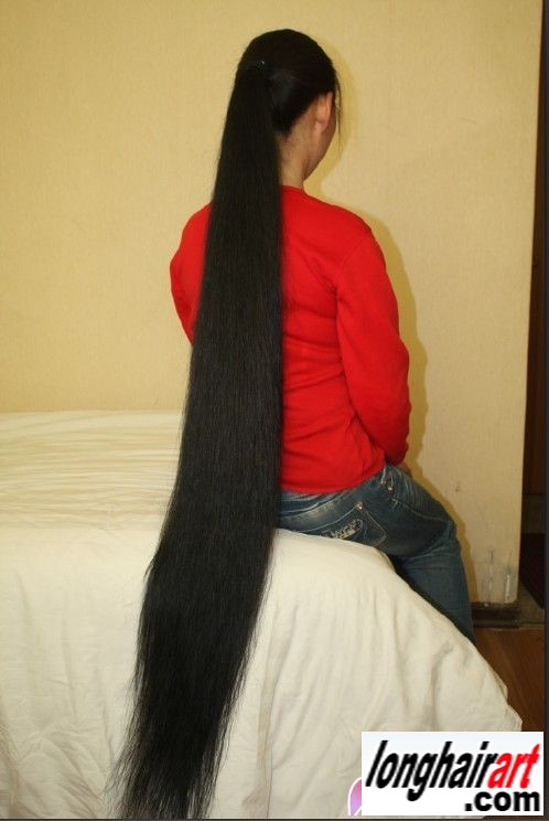 10 Long-Hair-For-Sale  150 Cm Thick Wonderful Super -1489