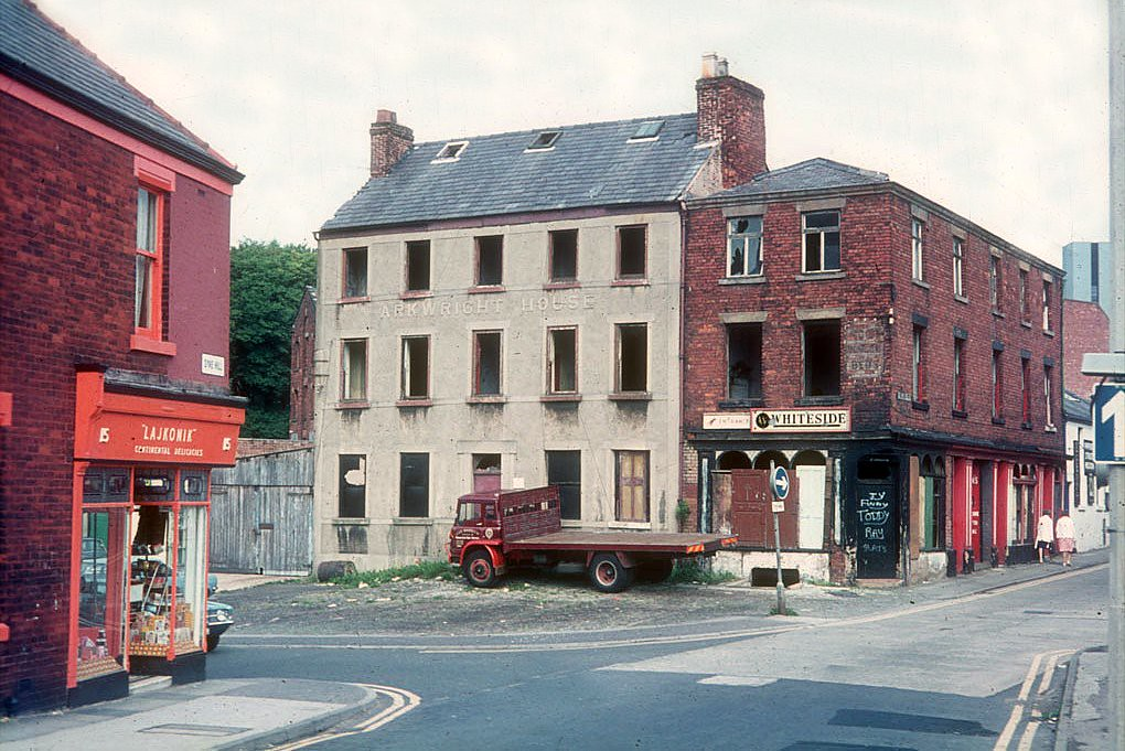 Arkwright house preston seen before restoration for Preston house