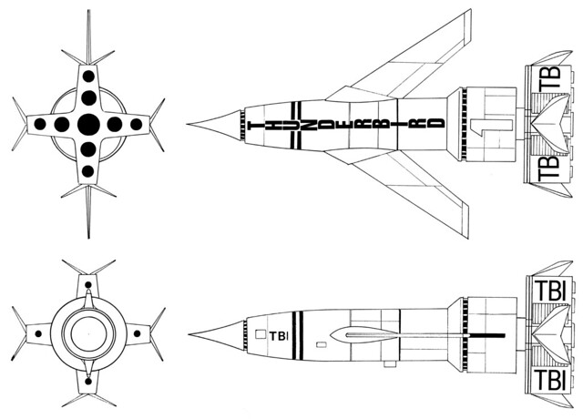 thunderbird 1 - schematic diagram
