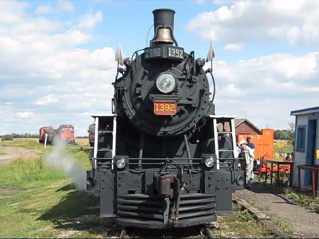 Locomotive 1392, front view   Locomotive 1392 seen from ...
