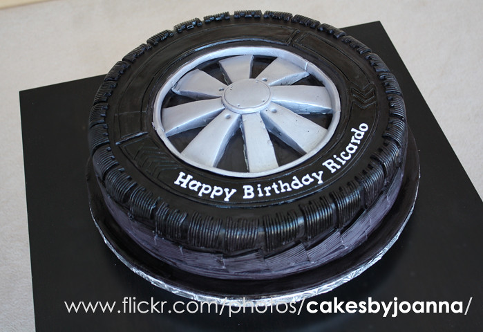 Race Car Number >> Tire cake, Wheel Cake | Visit my Blog at: www.TheCakingGirl.… | Flickr