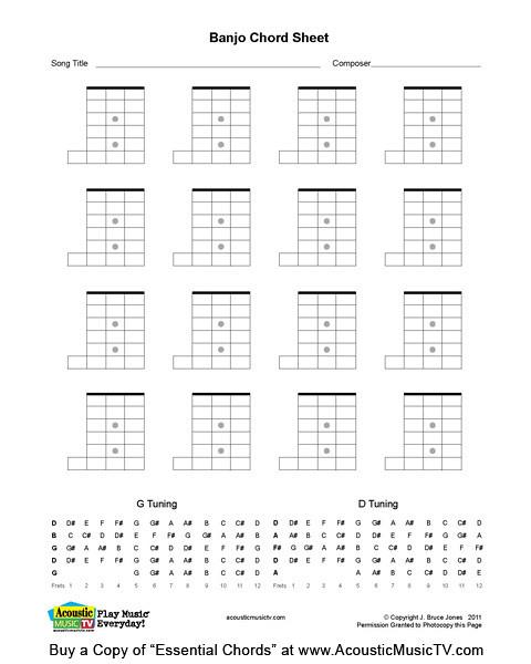 Essential Chords Banjo Blank Chord Boxes Blank Banjo Chor Flickr