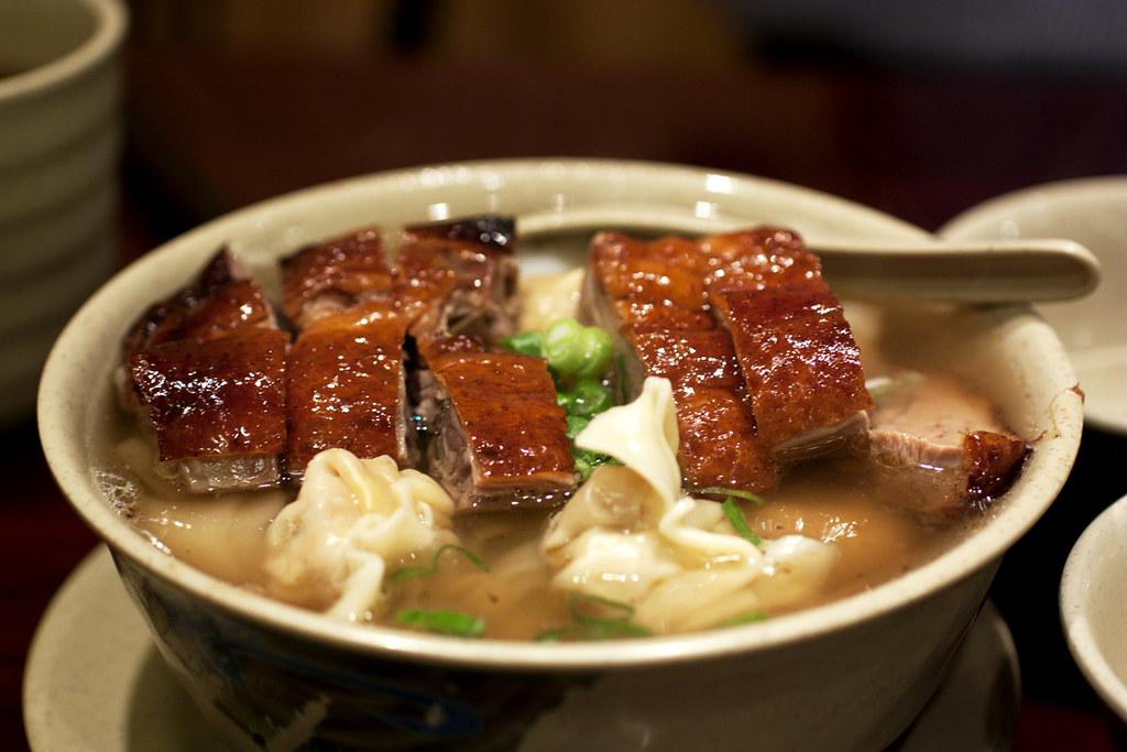 Roast Duck Wonton Noodle Soup Hk Wonton Garden Flickr