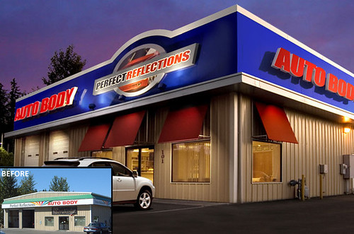 Auto Body Facade Remodel Exterior Auto Body Shop