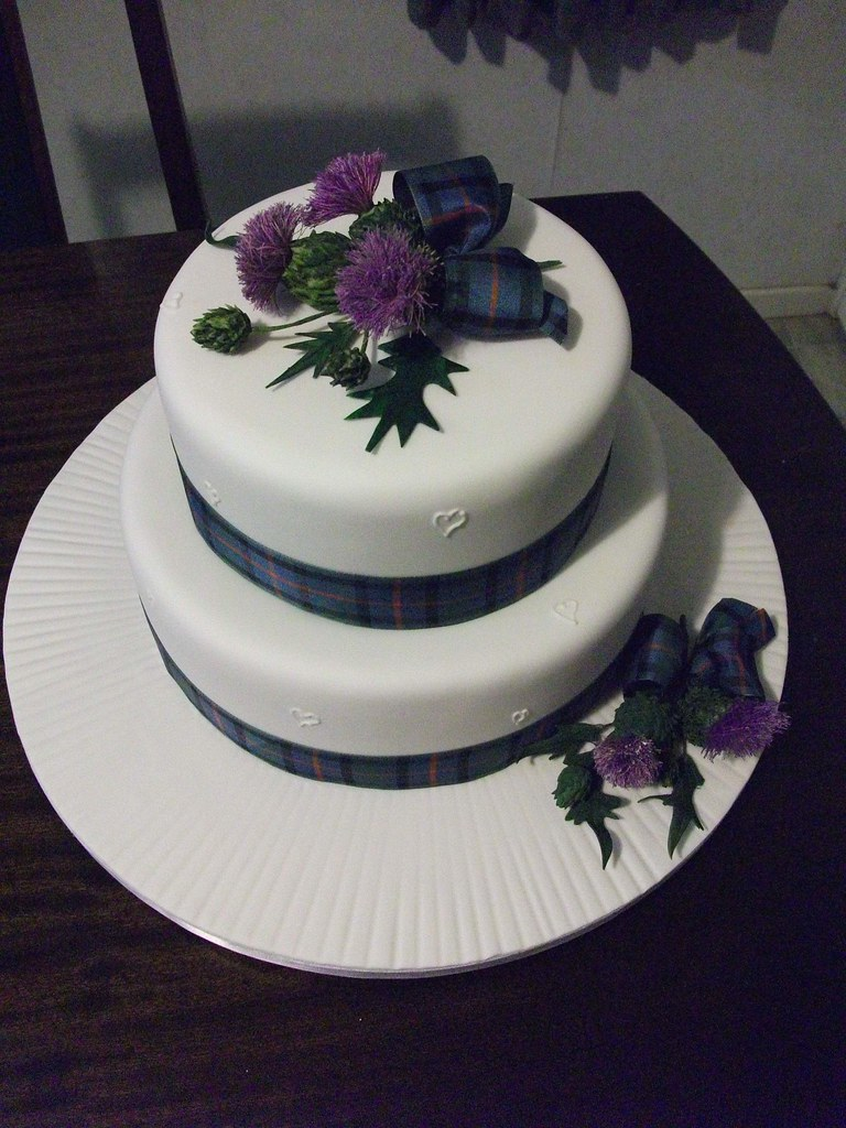 Scottish Thistle Wedding Cake Jane Flickr