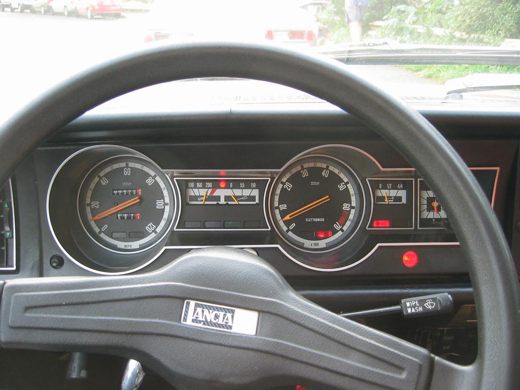 1978 Lancia Beta sedan dash, ignition on   Lancia Beta ...