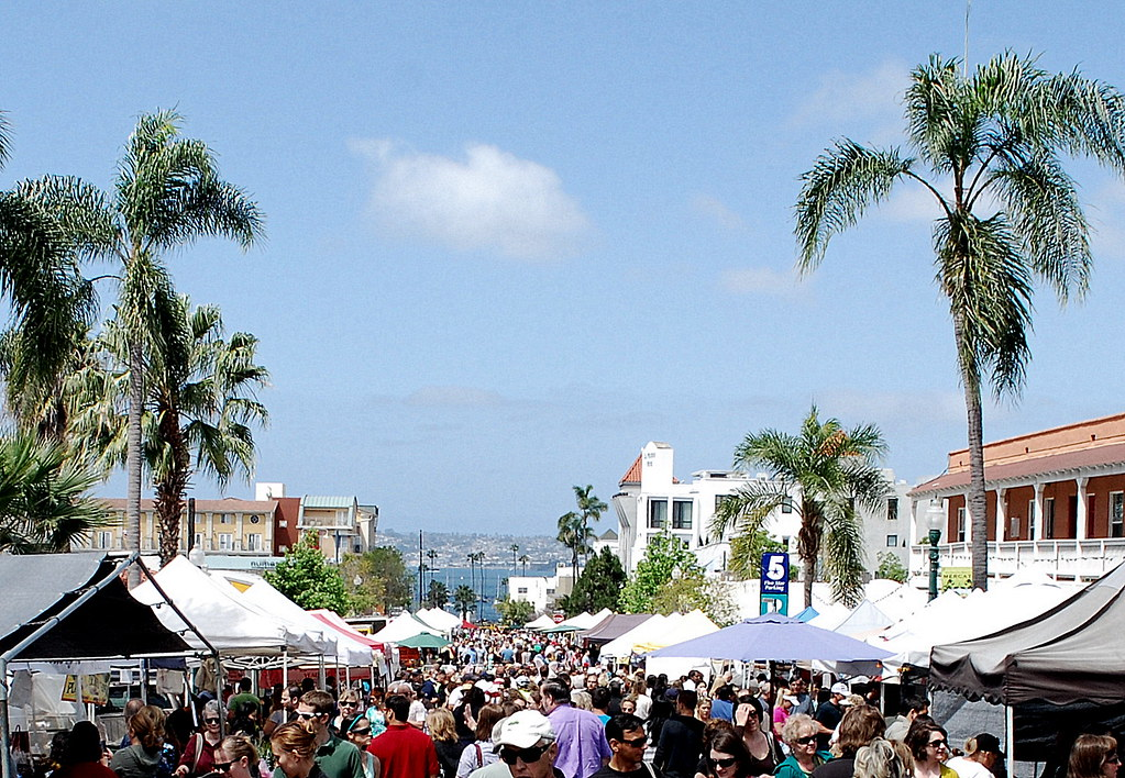 The Crowd at The Mercato (San Diego/Little Italy Saturday ...