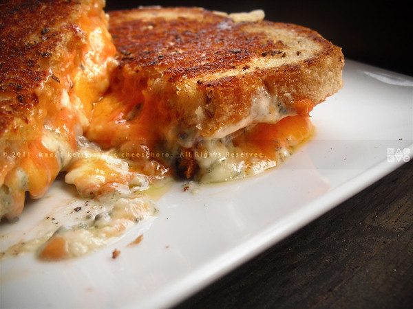 The Drunken Sailor | Grilled Cheese Sandwich of Blue Cheese, Sharp ...