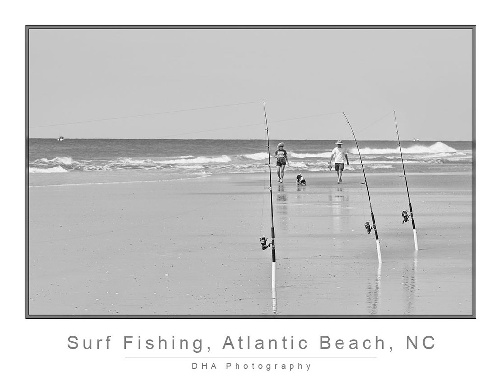 surf fishing at atlantic beach nc donald h allison