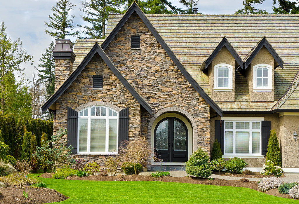 stone wall home