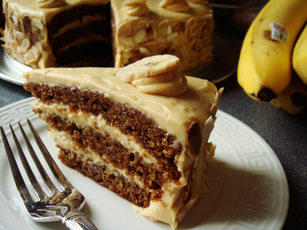 Butterscotch Banana Cake With Caramel Frosting