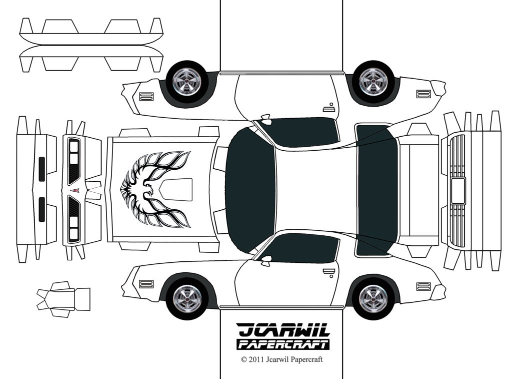 JCARWIL PAPERCRAFT '77 Pontiac Firebird | Finally, here's