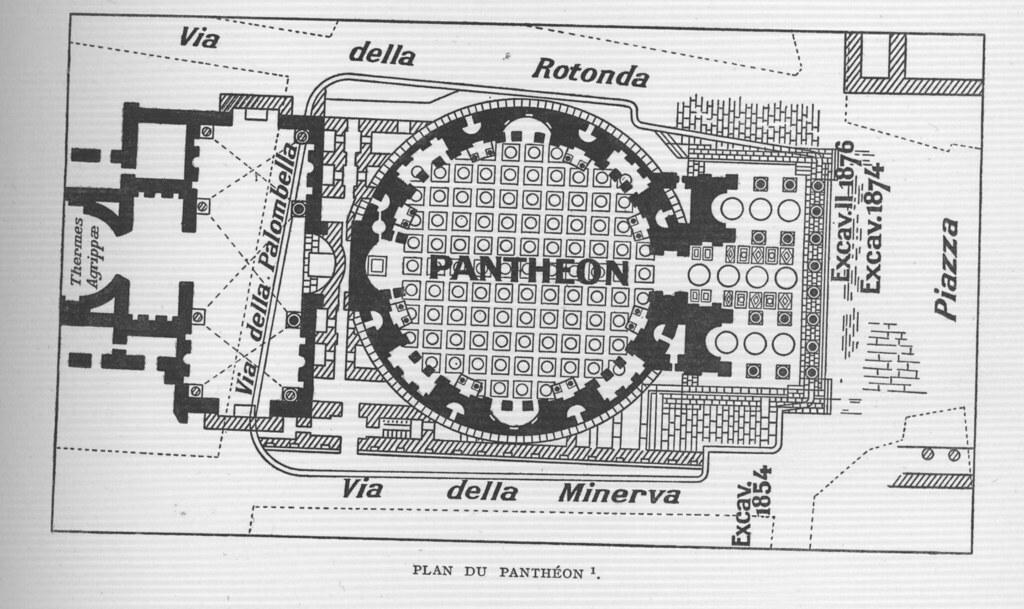 Pantheon Rome Plan Other Title Pantheon Rome Italy