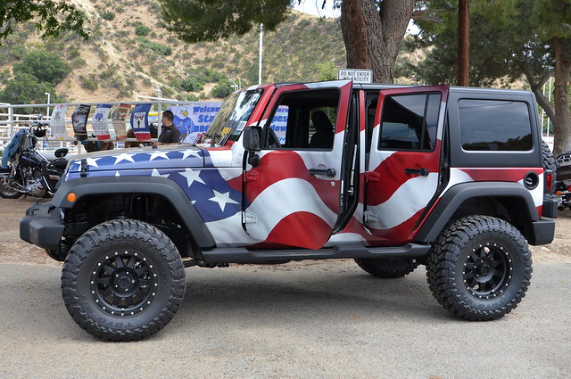 Jeep Wrangler Unlimited With American Flag Wrap Explore