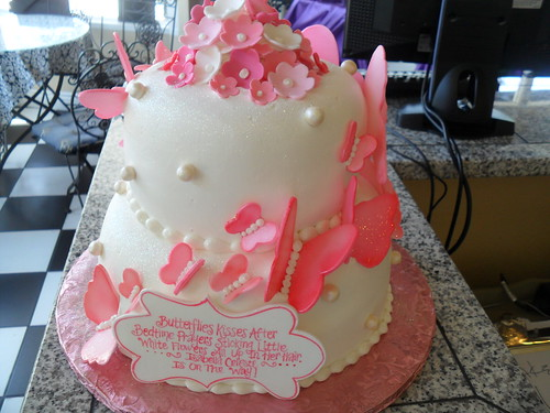Butterfly Baby Shower Cake