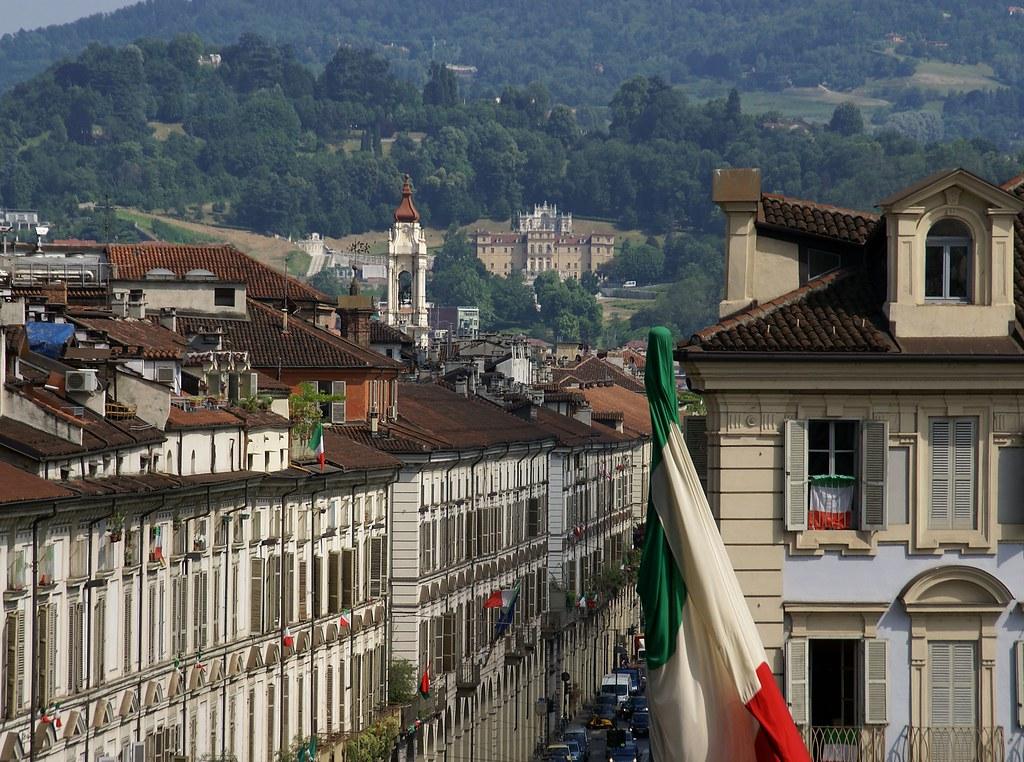 Torino villa della regina vom palazzo madama gesehen vi for Palazzo villa torino
