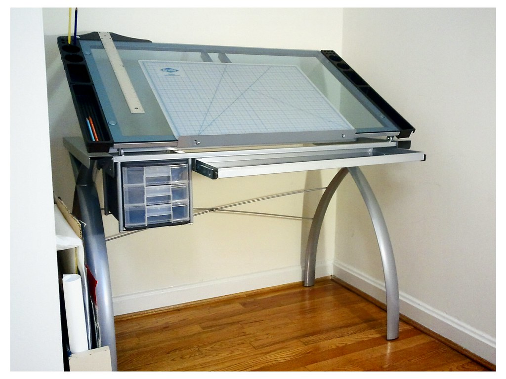 Futura Glass Drafting Table | Yelena Keyzman | Flickr