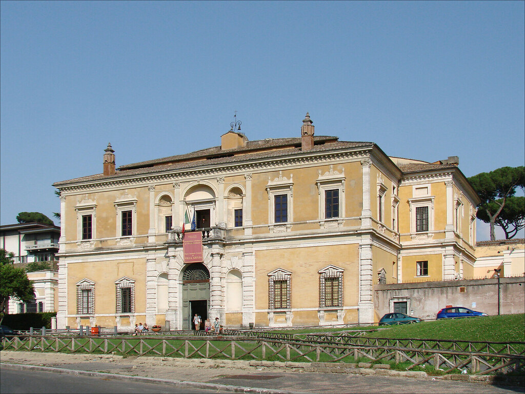 La fa ade ext rieure de la villa giulia rome la fa ade for Facade de villa en pierre