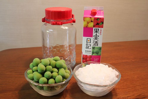 Ingredients in making umeshu | by findingsachi