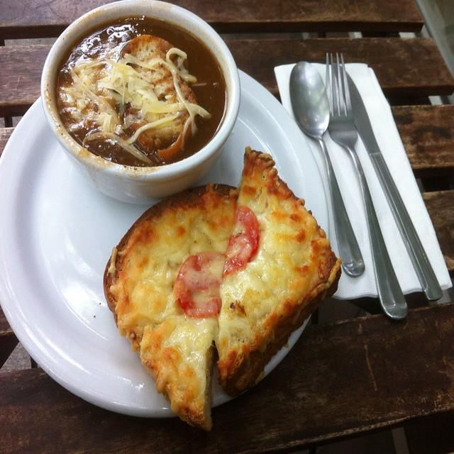 comida internacional francesa nos EUA