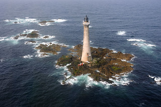 An aerial view of Skerryvore (Scotland's tallest) Lighthouse | by iancowe