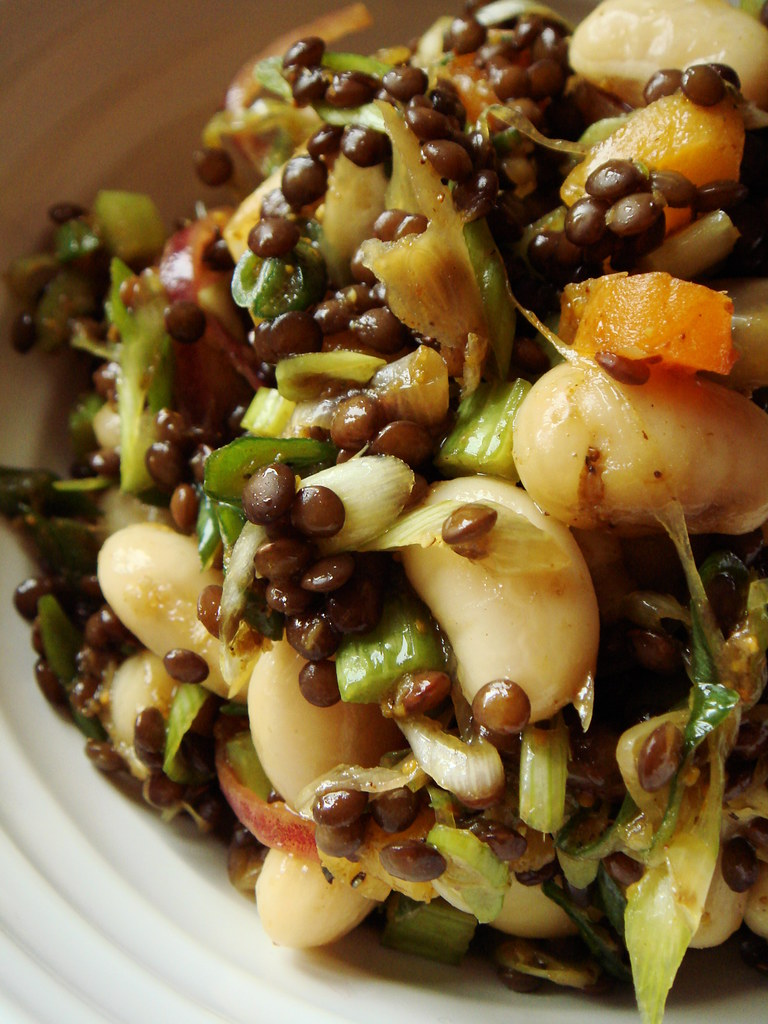 moroccan bean lentil salad vegan main course salad of ca flickr. Black Bedroom Furniture Sets. Home Design Ideas