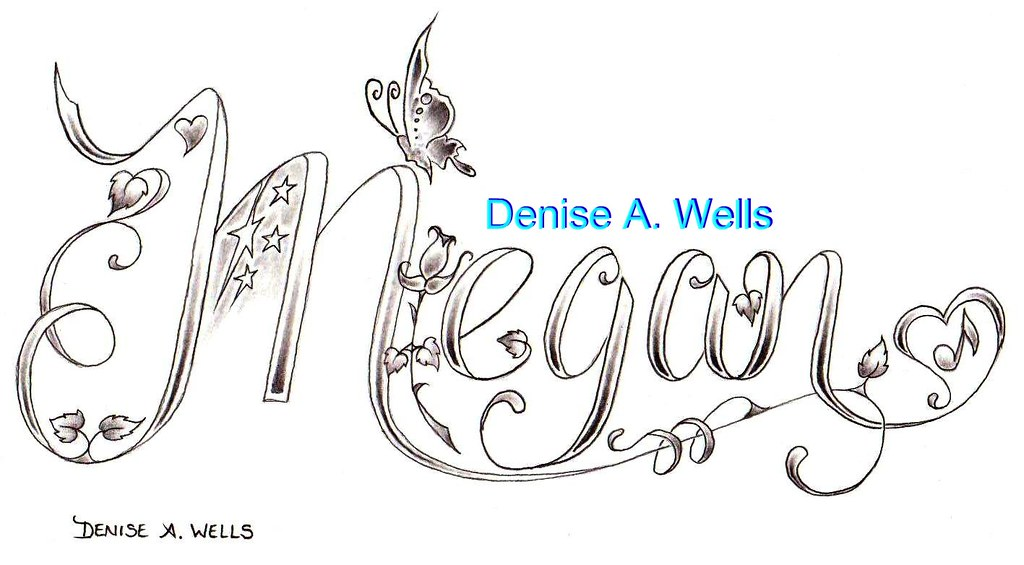 Megan Name Tattoo Design