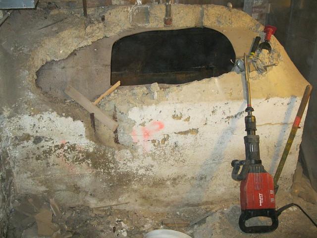 Oil Tank Demolition : Concrete encased oil tank demolition flickr