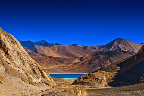 Pangong Tso - First Glimpse | by Anoop Negi