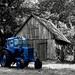 We all livin' in a blue tractor....