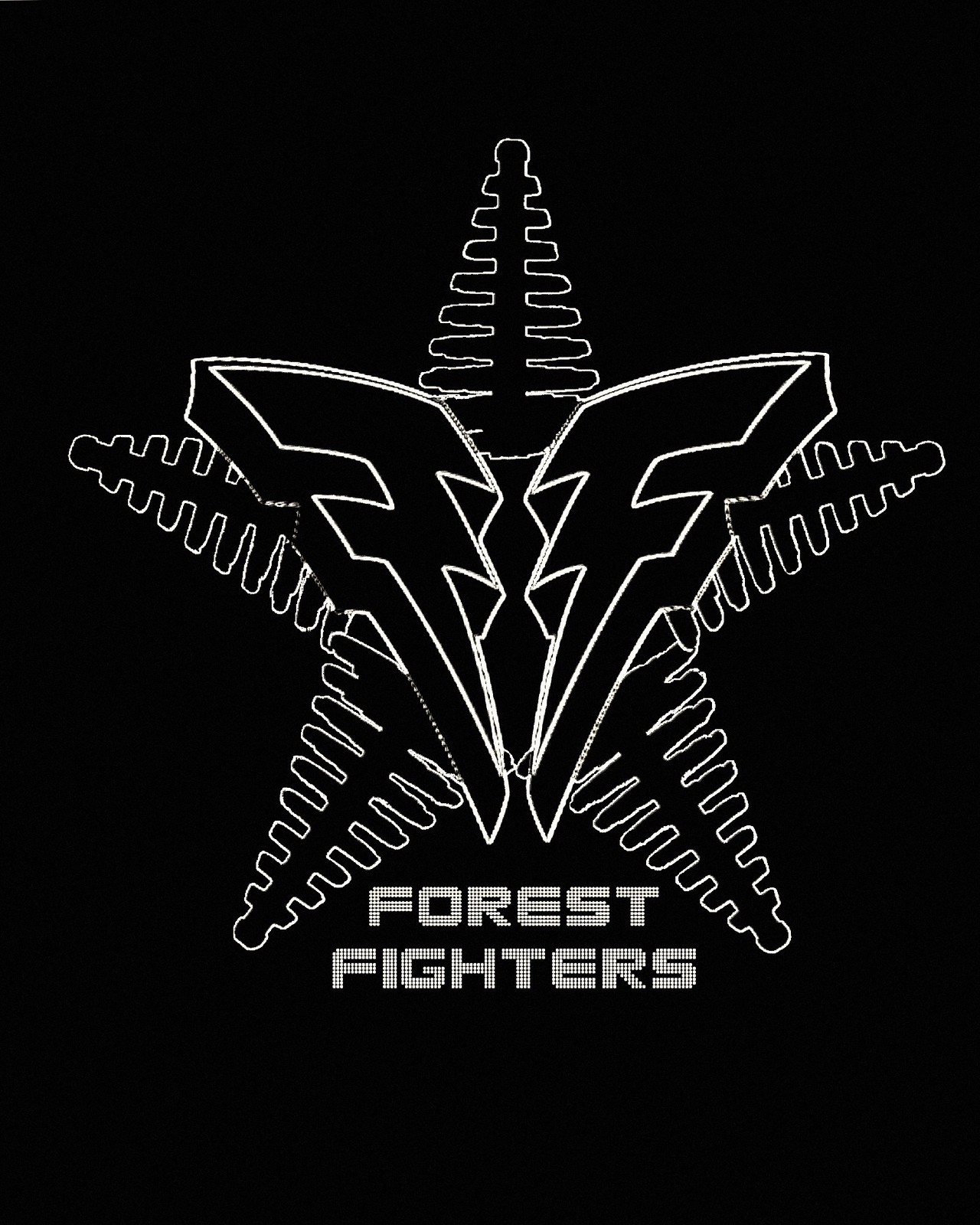 Fighters Team Logo Telephone Game Team Logo